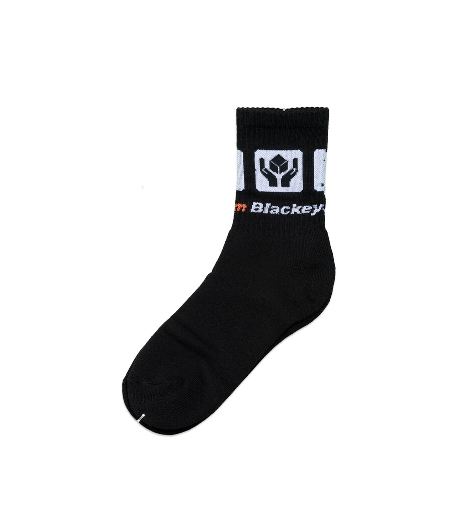 """Handle With Care Socks """"Black/White""""-1"""