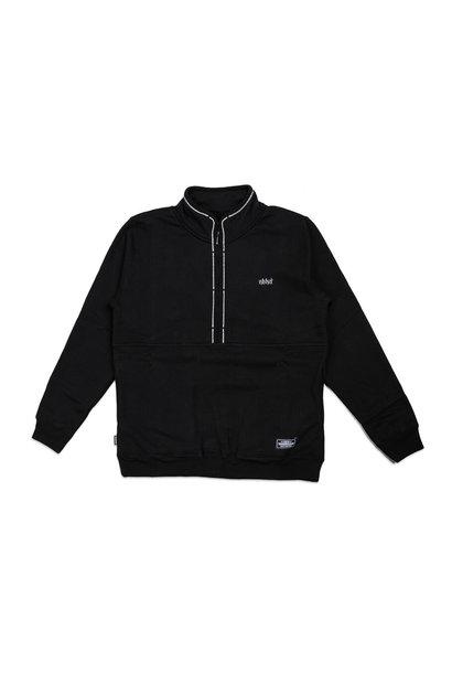 """Classic Half-Zip Sweatshirt """"Black"""""""