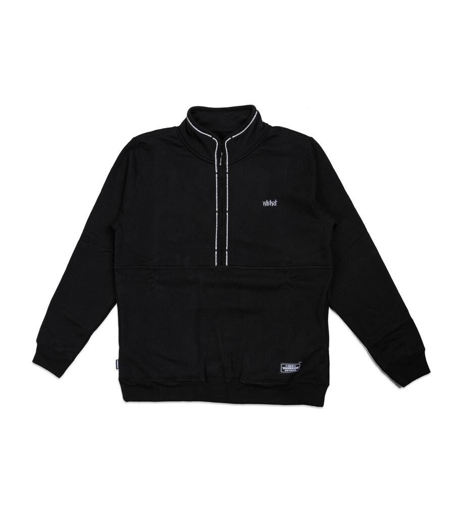 """Classic Half-Zip Sweatshirt """"Black""""-1"""