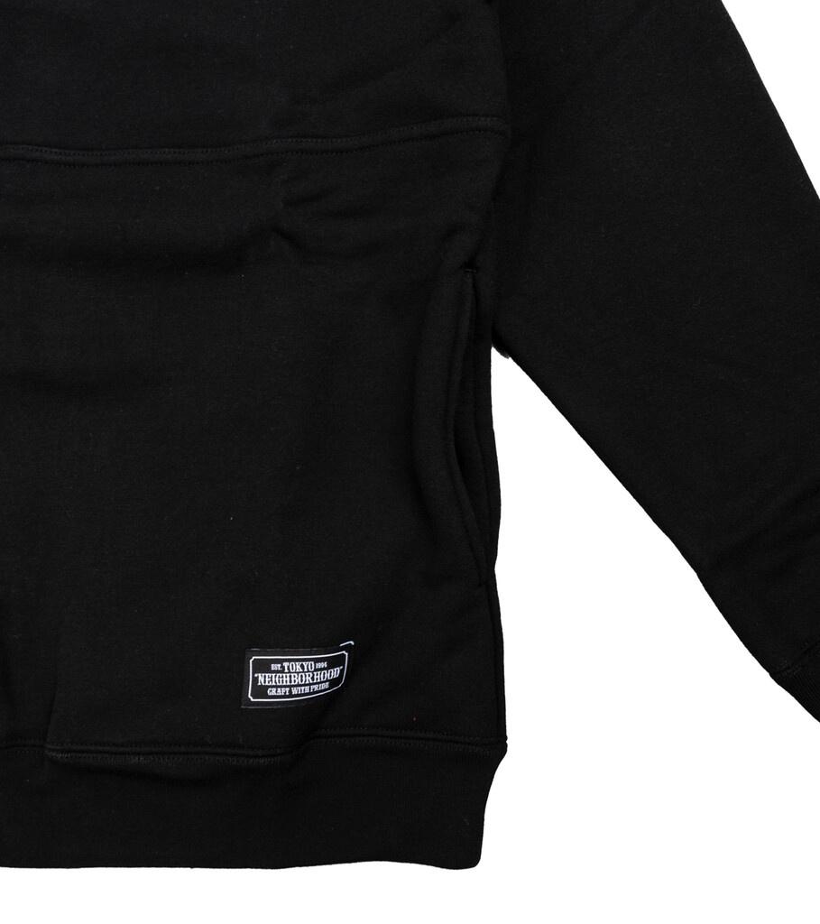 """Classic Half-Zip Sweatshirt """"Black""""-3"""