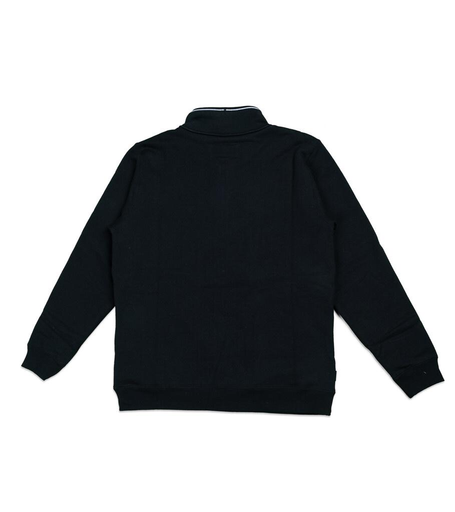 """Classic Half-Zip Sweatshirt """"Black""""-4"""