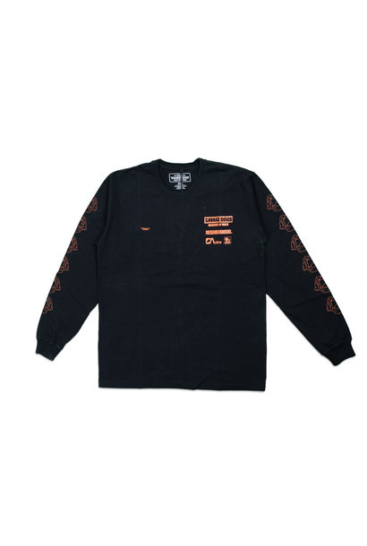 "Ana LS Tee ""Black/Orange"""