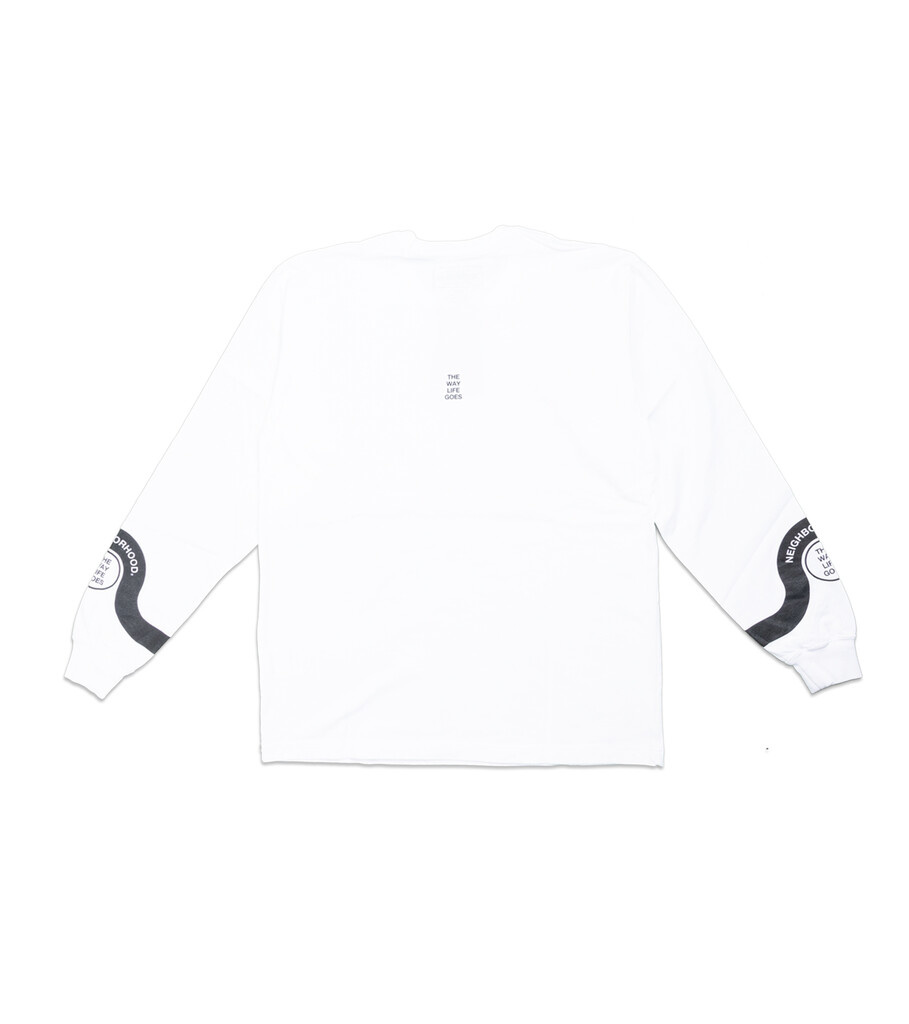 """The Way Life Goes LS Tee """"White""""-3"""