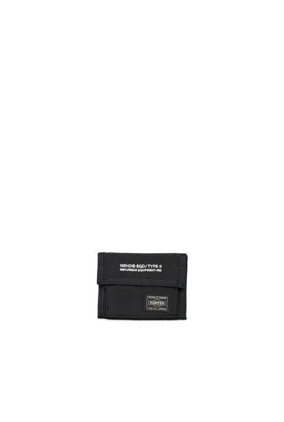 """Yoshida-Porter Tri-Fold Wallet """"Black"""""""