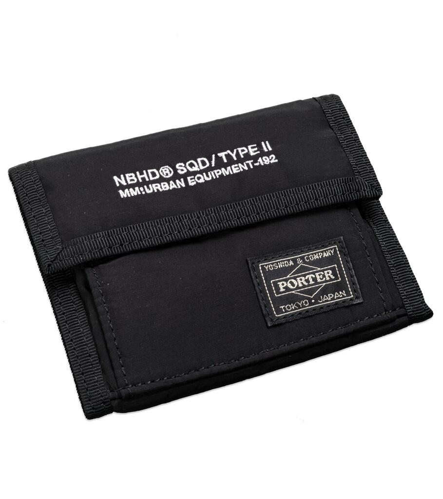 """Yoshida-Porter Tri-Fold Wallet """"Black""""-2"""