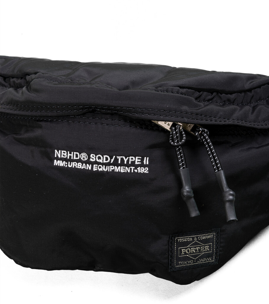 "Yoshida-Porter Waist Bag ""Black""-2"