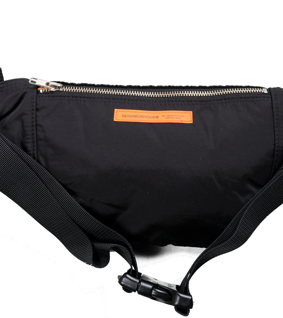 "Yoshida-Porter Waist Bag ""Black""-3"