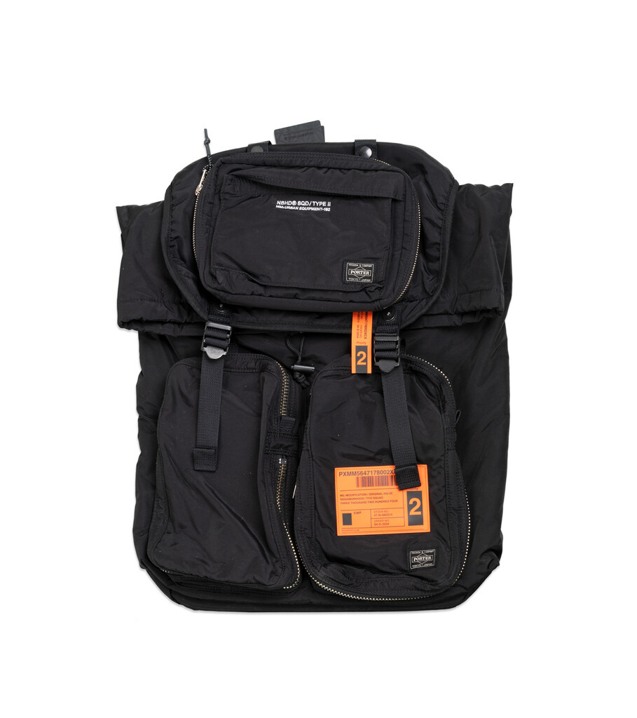 "Yoshida-Porter Military Backpack ""Black""-1"