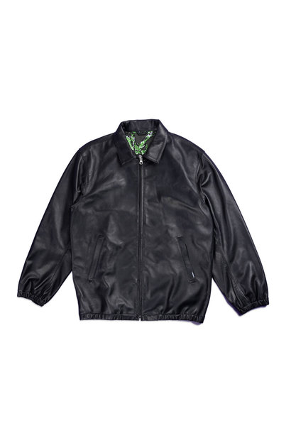 "Plain Sheep Leather Jacket ""Black"""