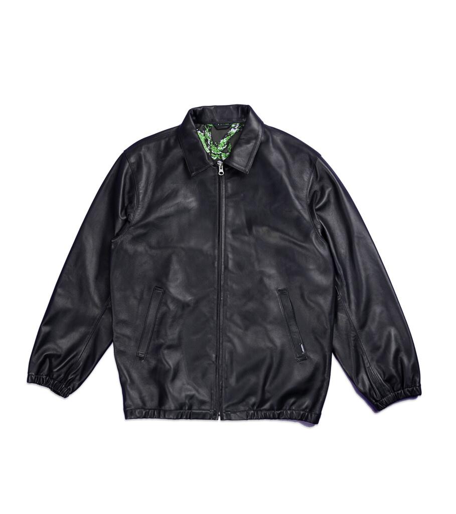 """Plain Sheep Leather Jacket """"Black""""-1"""