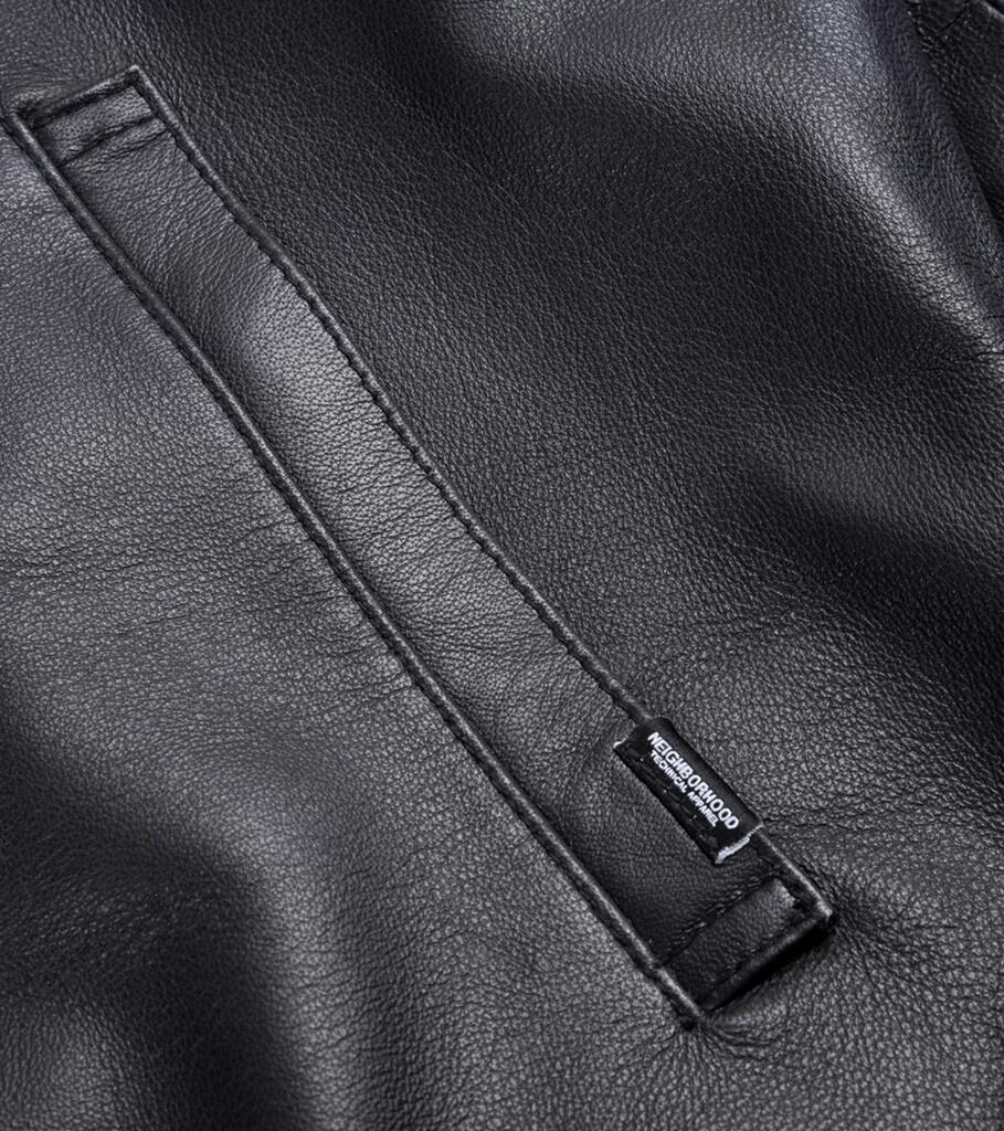 """Plain Sheep Leather Jacket """"Black""""-2"""
