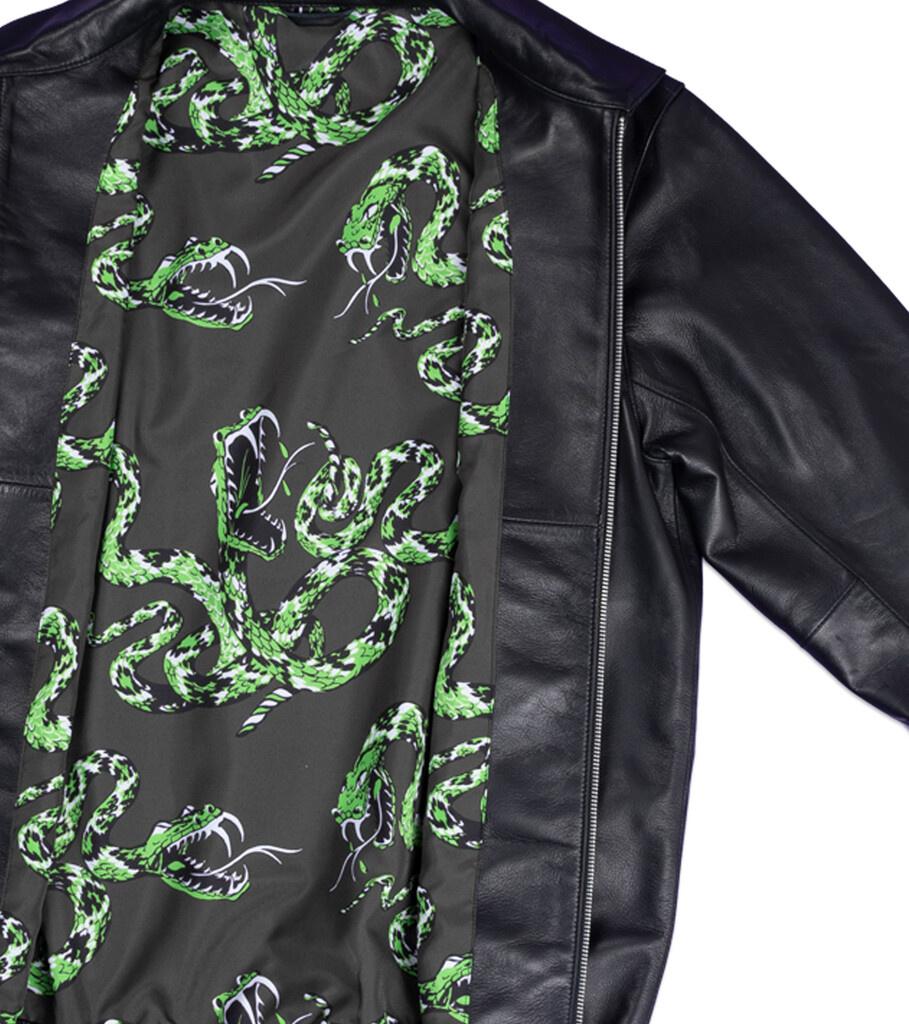 """Plain Sheep Leather Jacket """"Black""""-3"""