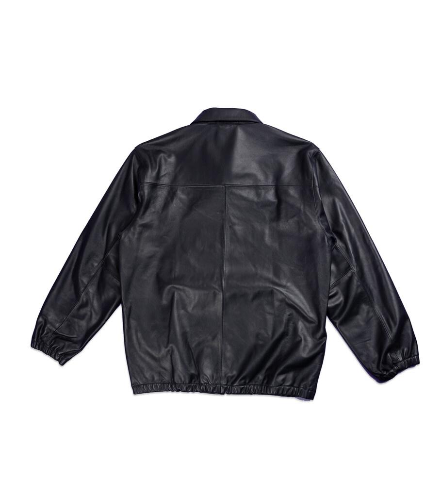 """Plain Sheep Leather Jacket """"Black""""-4"""