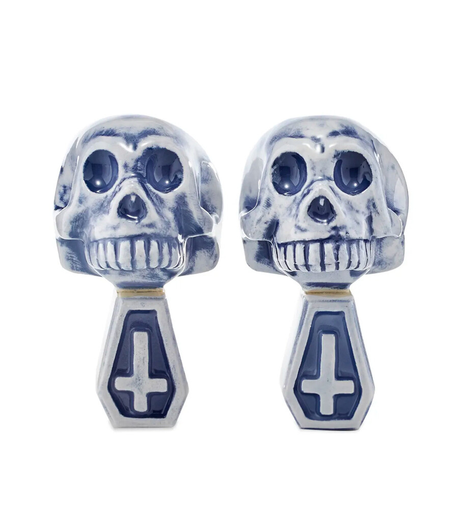 "Dual Skull Booze Incense Chamber ""Blue""-2"