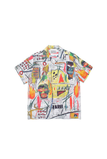 "Hawaiian Shirt x Jean-Michel Basquiat ""White/Yellow"""