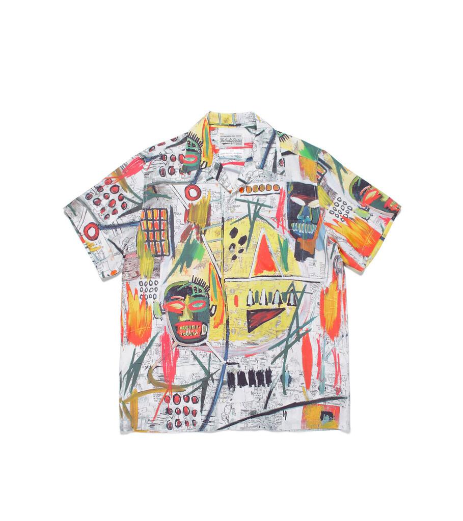 """Hawaiian Shirt x Jean-Michel Basquiat """"White/Yellow""""-1"""