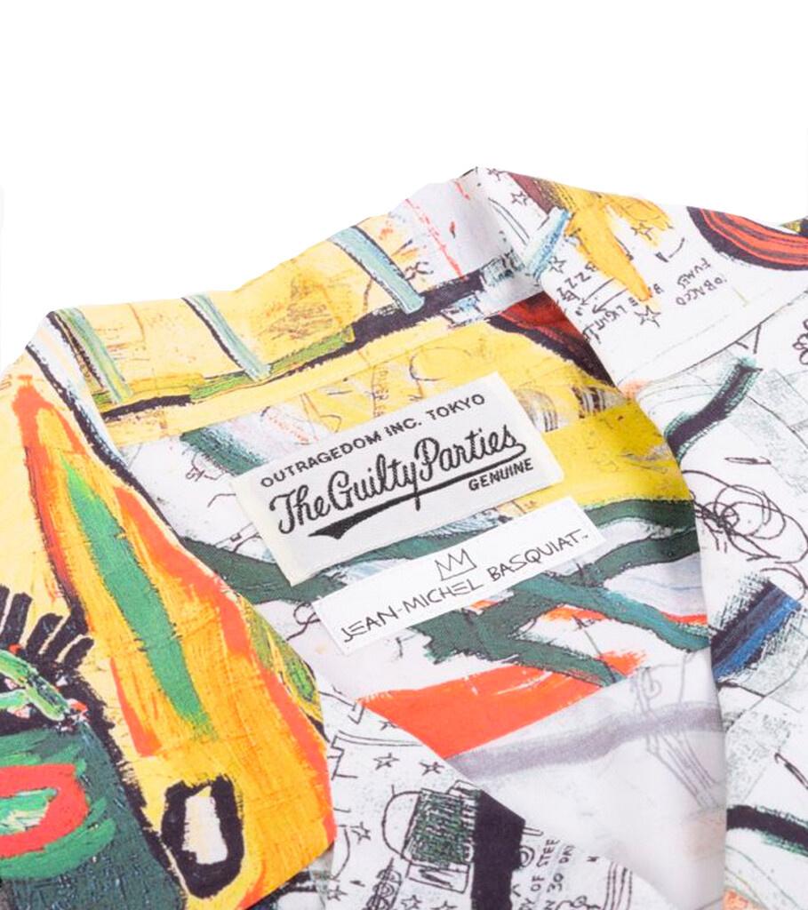 """Hawaiian Shirt x Jean-Michel Basquiat """"White/Yellow""""-2"""