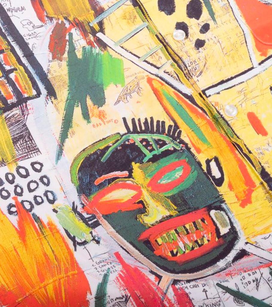 """Hawaiian Shirt x Jean-Michel Basquiat """"White/Yellow""""-3"""