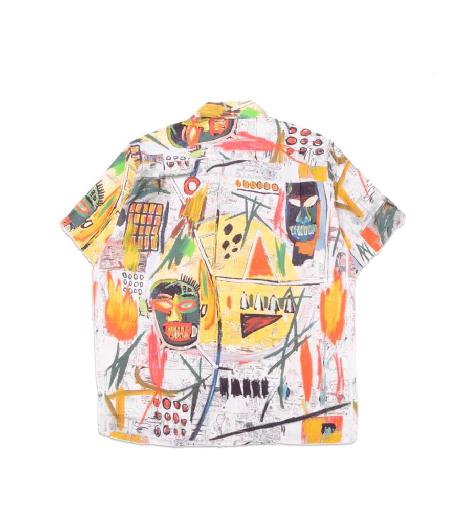 """Hawaiian Shirt x Jean-Michel Basquiat """"White/Yellow""""-4"""