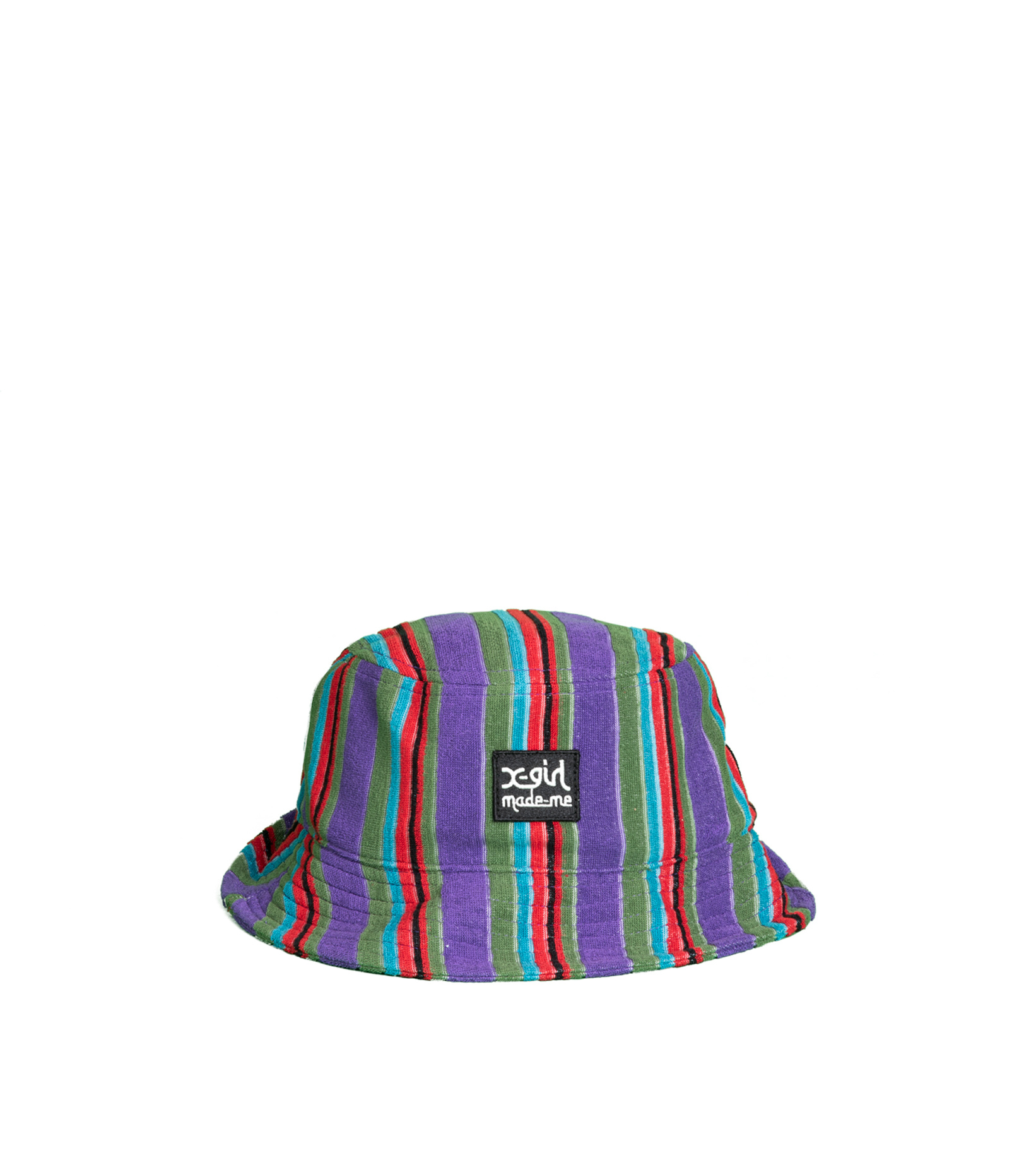 """X-Girl Striped Bucket Hat """"Purple French Terry """"-1"""
