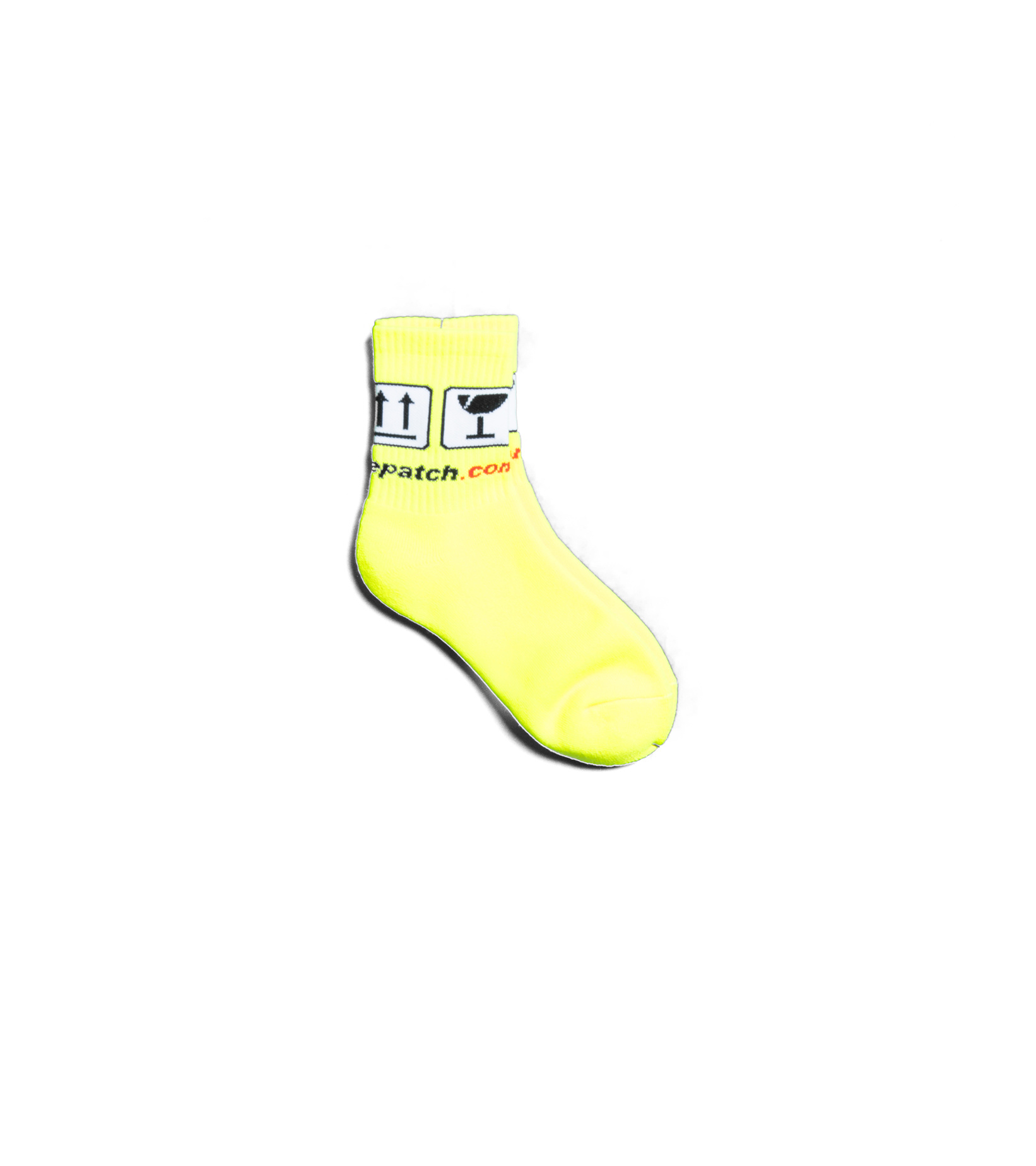 "Handle With Care Socks ""Yellow""-2"