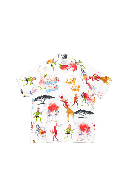 "Hawaiian Shirt x Neck Face ""White"""