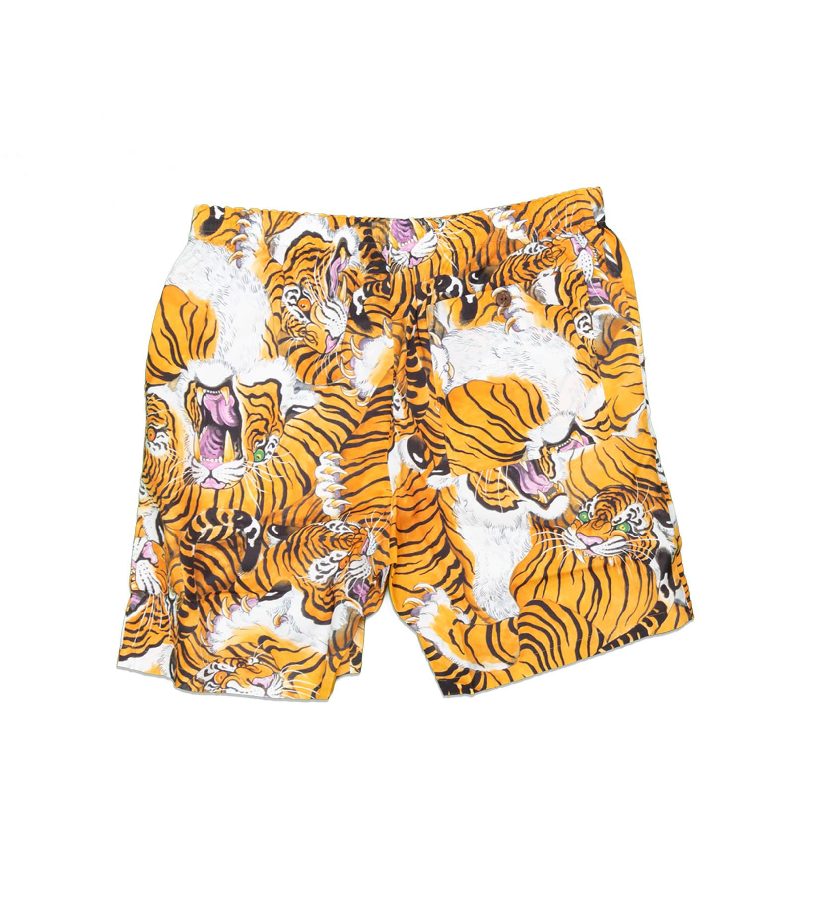 """Hawaiian Tiger Shorts x Tim Lehi """"Yellow""""-1"""