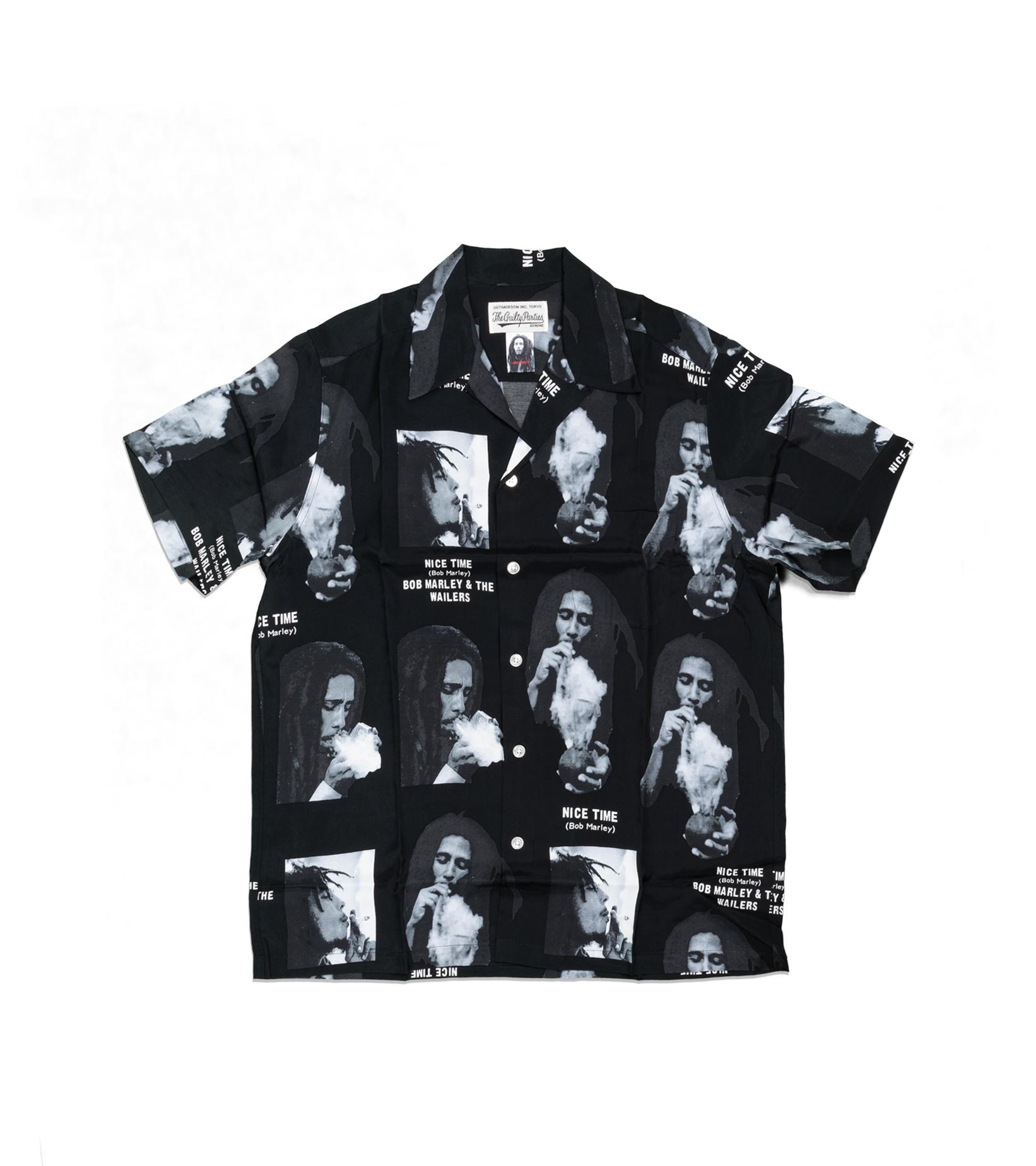 """Hawaiian Shirt x Bob Marley """"Black""""-1"""
