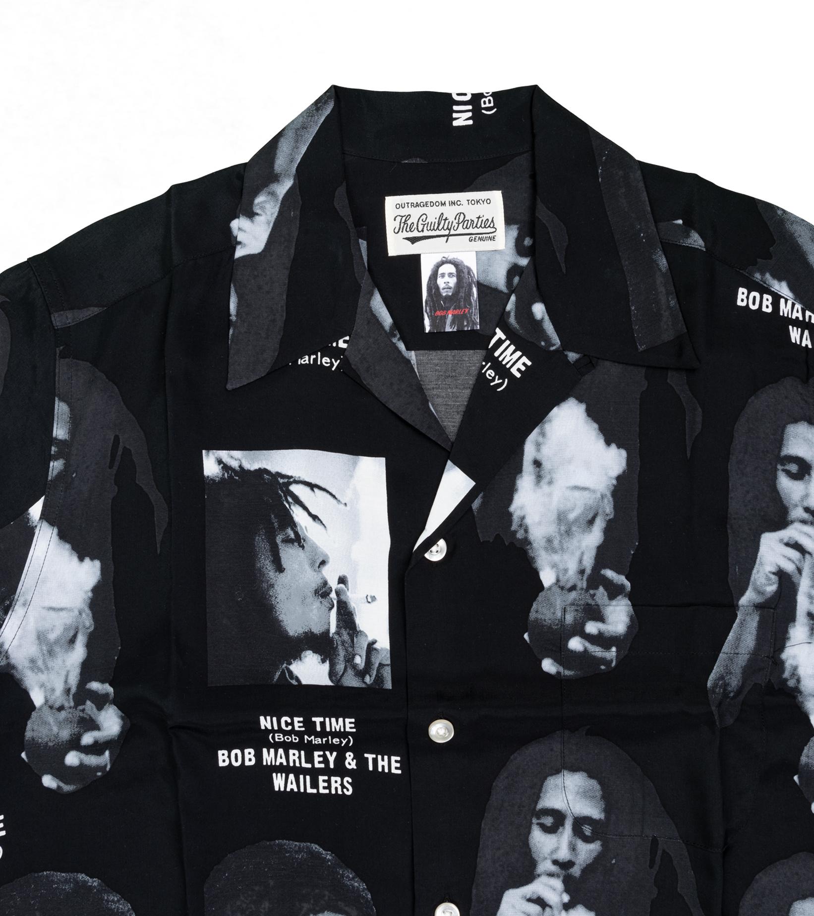 """Hawaiian Shirt x Bob Marley """"Black""""-2"""