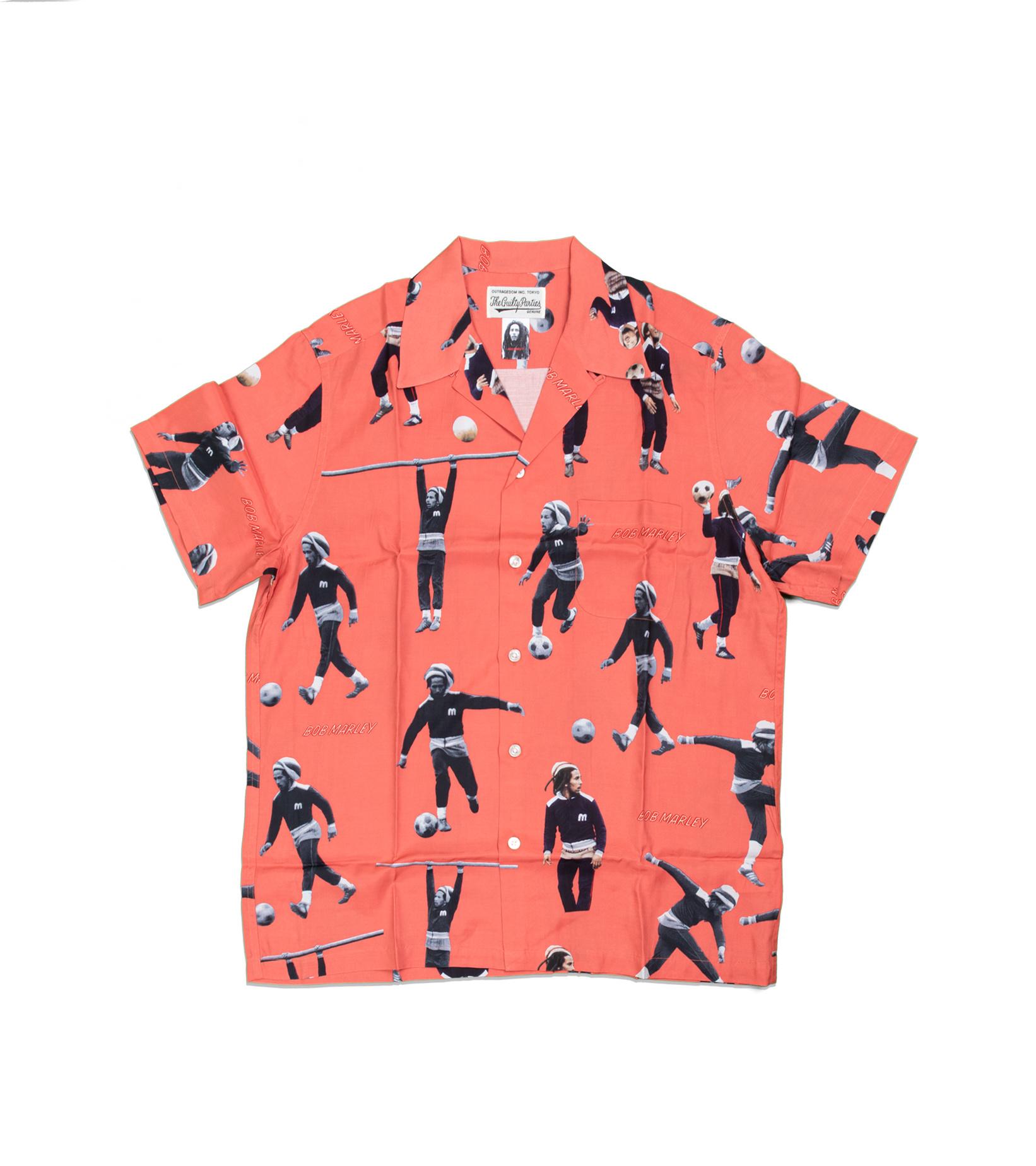 """Hawaiian Shirt x Bob Marley """"Red""""-1"""