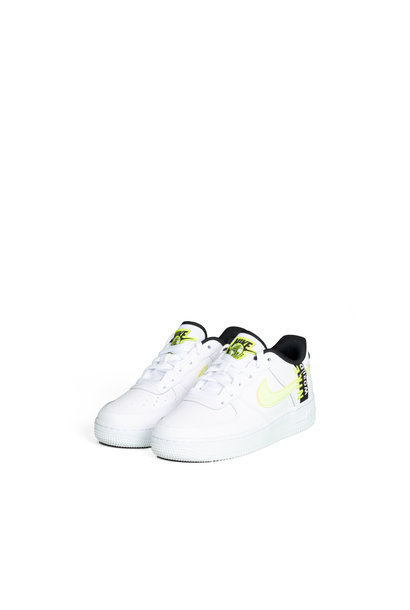 "Air Force 1 LV8 (GS) ""White/Barely Volt"""