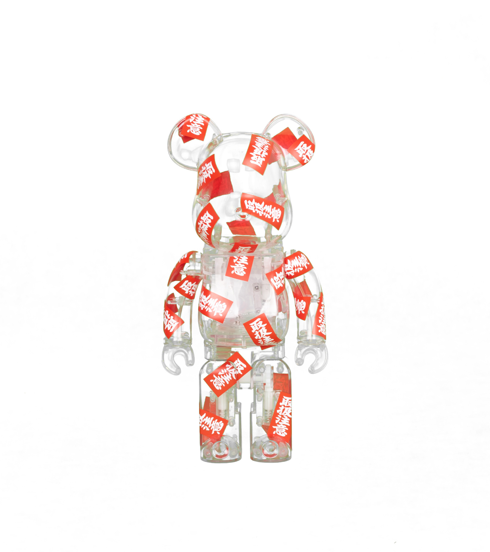 "Black Eye Patch Handle With Care 400% Be@Rbrick ""Clear""-1"