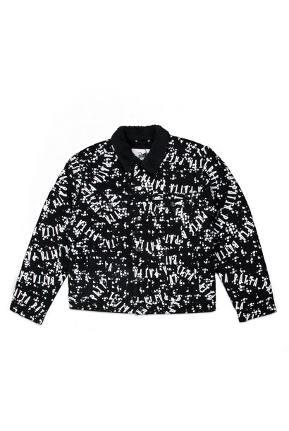 "Universe Sherpa Denim Jacket ""Black/White"""