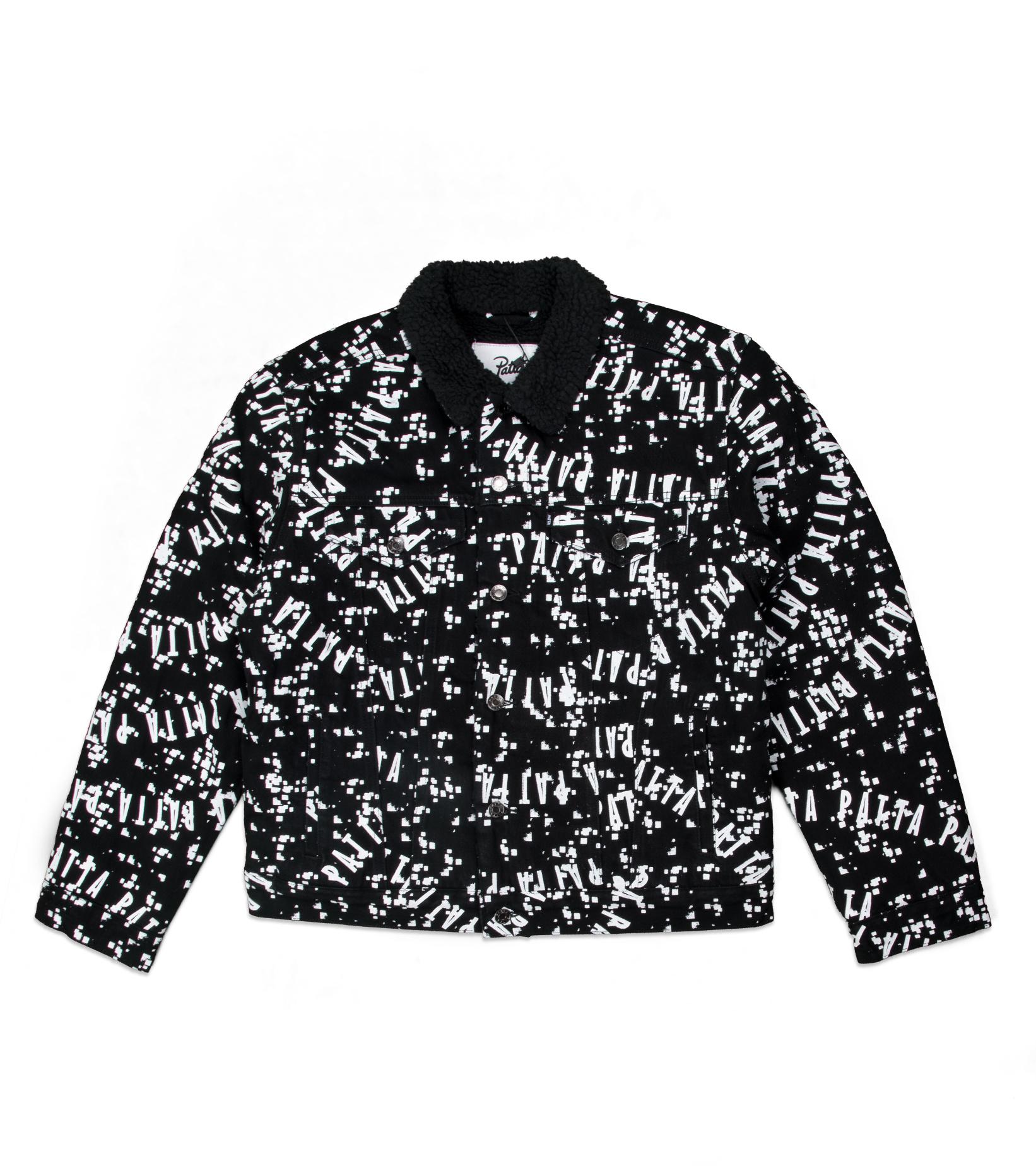 "Universe Sherpa Denim Jacket ""Black/White""-1"