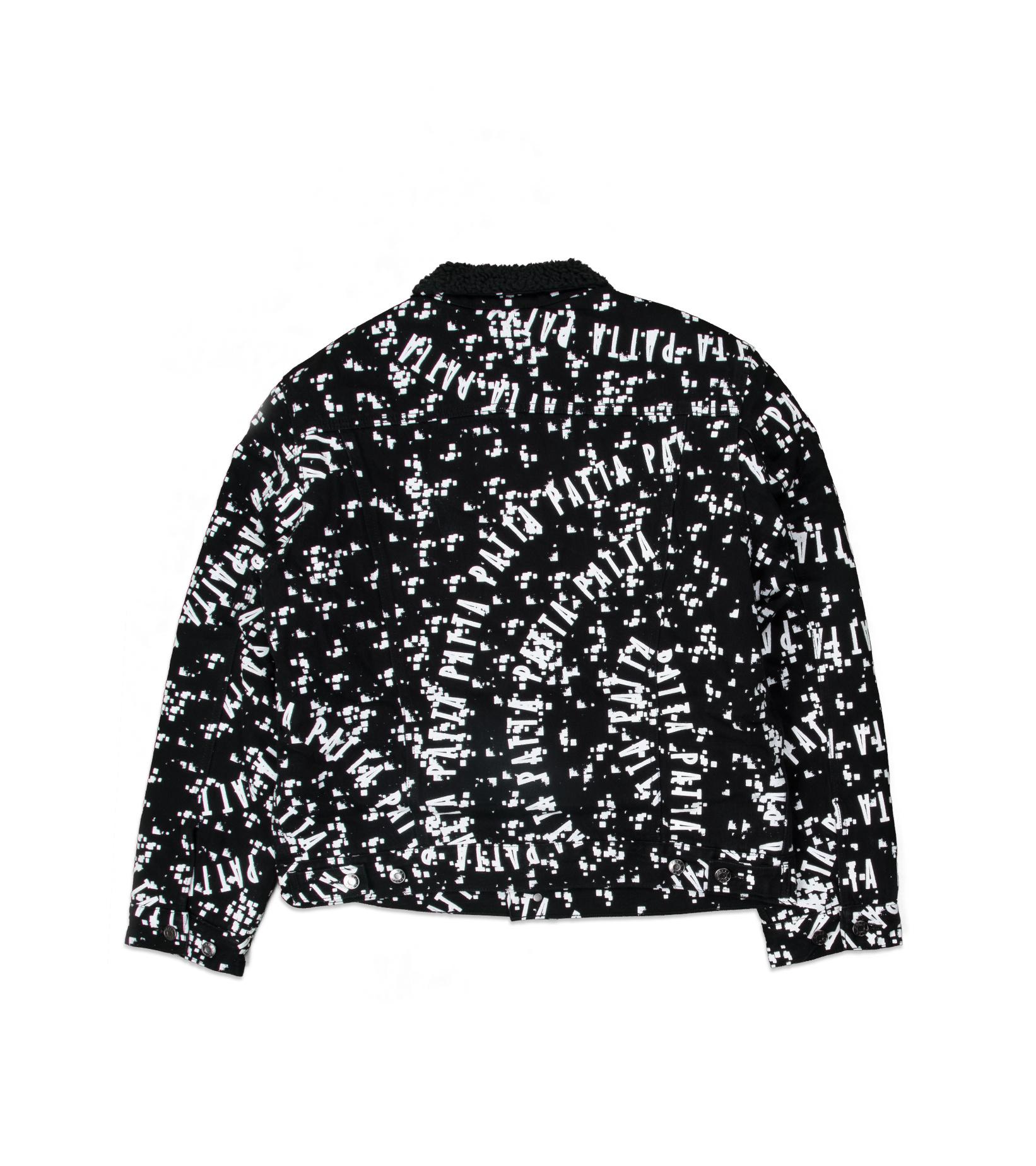 "Universe Sherpa Denim Jacket ""Black/White""-2"