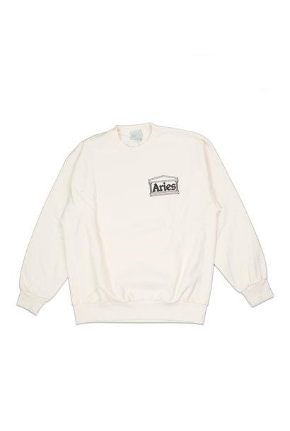 """Premium Temple Sweatshirt """"Alabaster"""""""