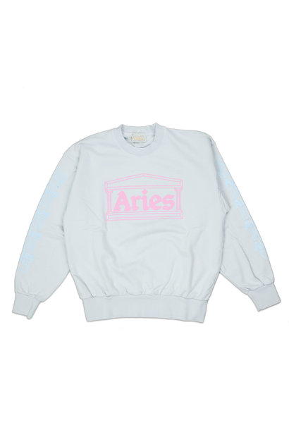 "Column Sweatshirt ""Pale Blue/Pink"""