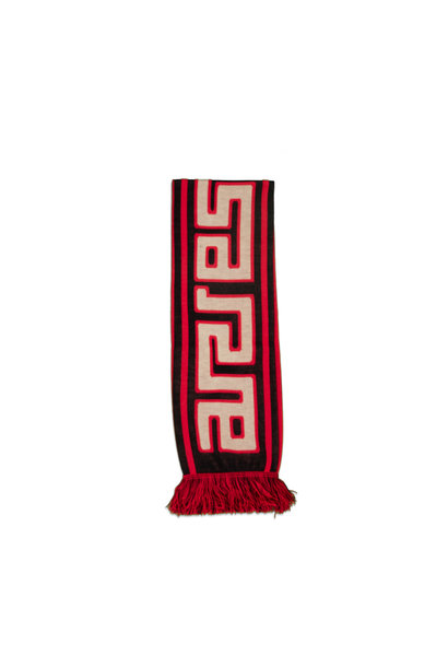 "Meandros Scarf ""Black/Red"""