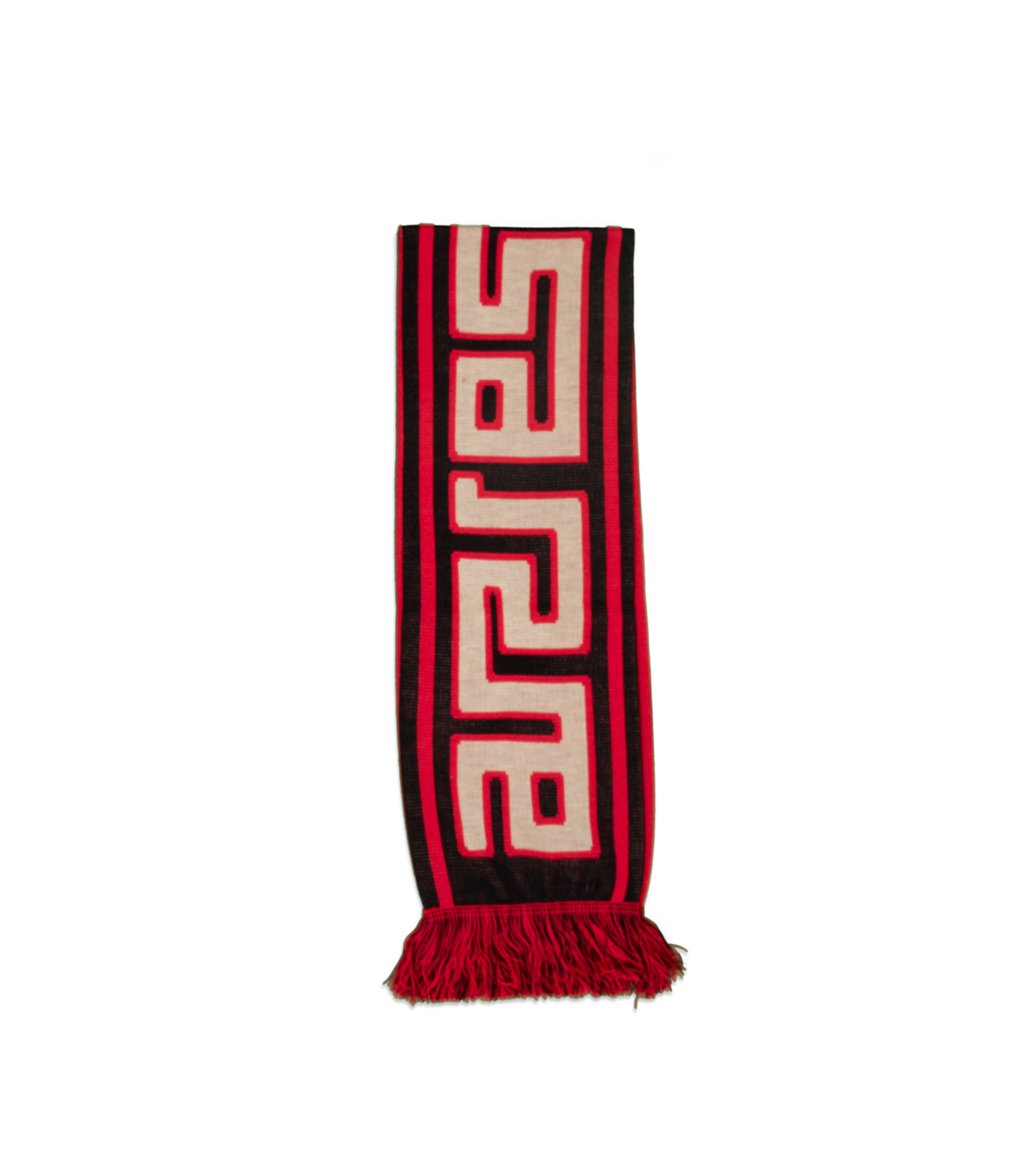 """Meandros Scarf """"Black/Red""""-1"""