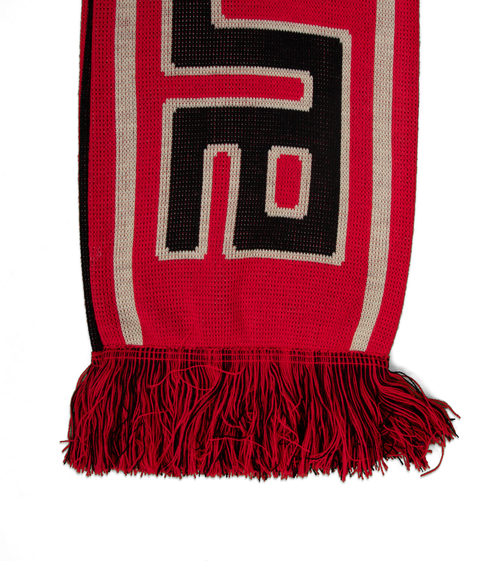 """Meandros Scarf """"Black/Red""""-5"""