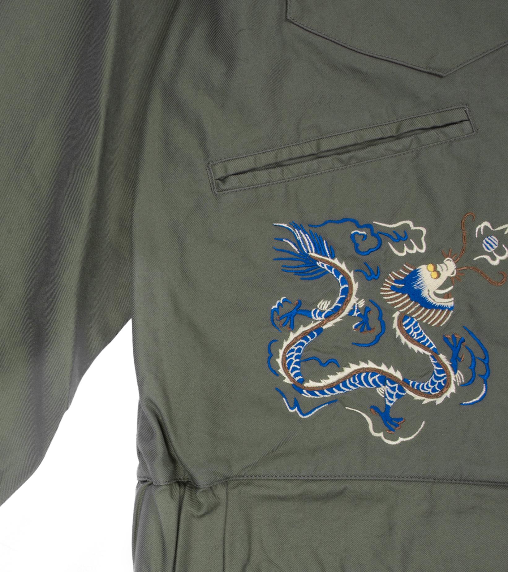 "Souvenir Jacket ""Olive Drab""-4"