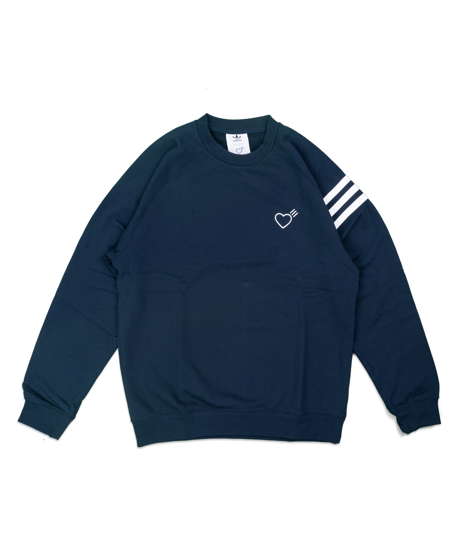 "Striped Shoulder Sweatshirt x Human Made ""Navy""-1"