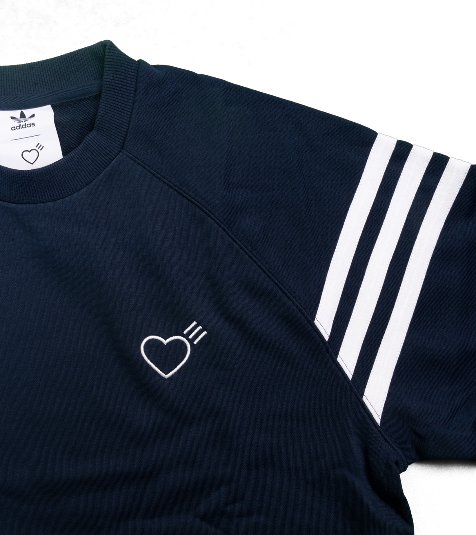 "Striped Shoulder Sweatshirt x Human Made ""Navy""-2"