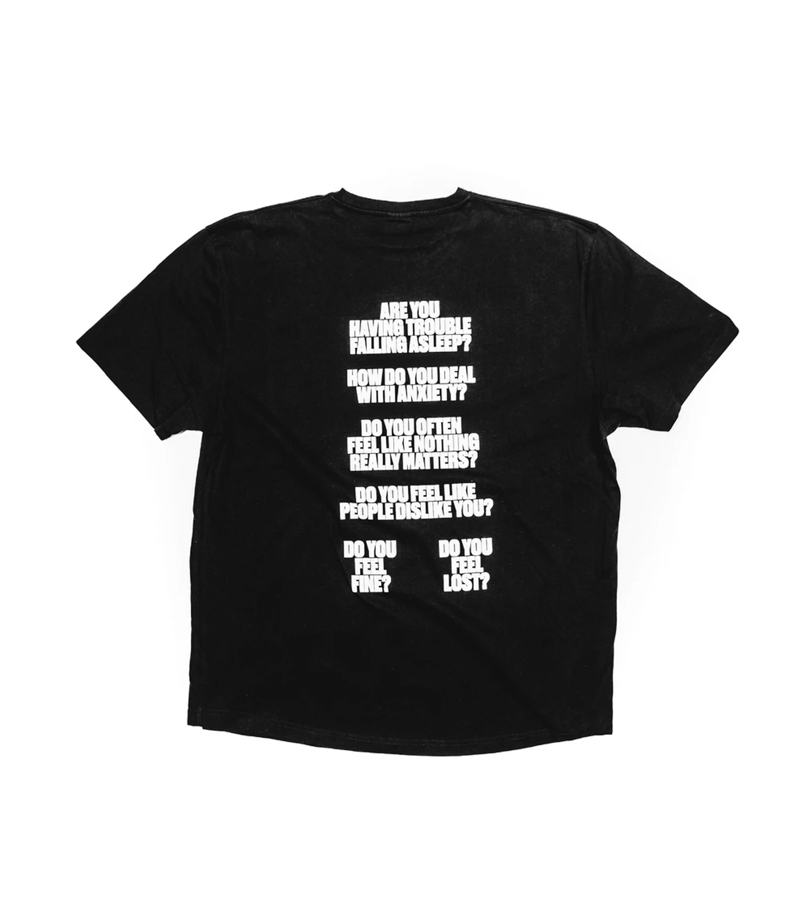 "I Feel Perfectly Terrible Tee ""Black""-2"