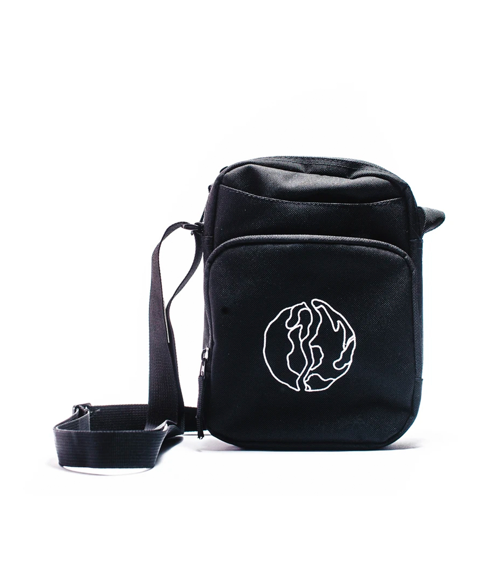 "Globe Logo Crossbody Bag ""Black""-1"