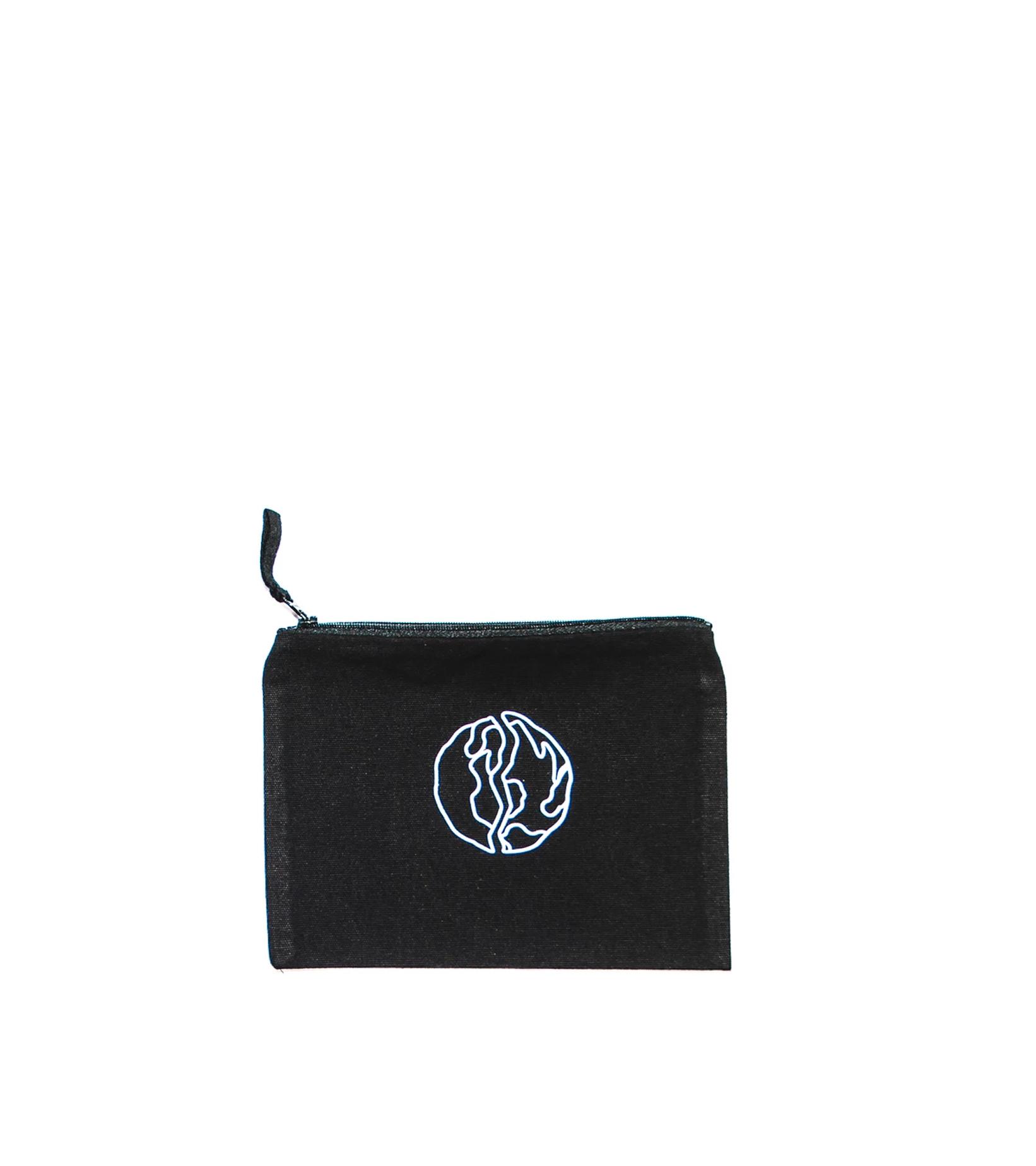 """Globe Logo Woven Pouch """"Black""""-1"""