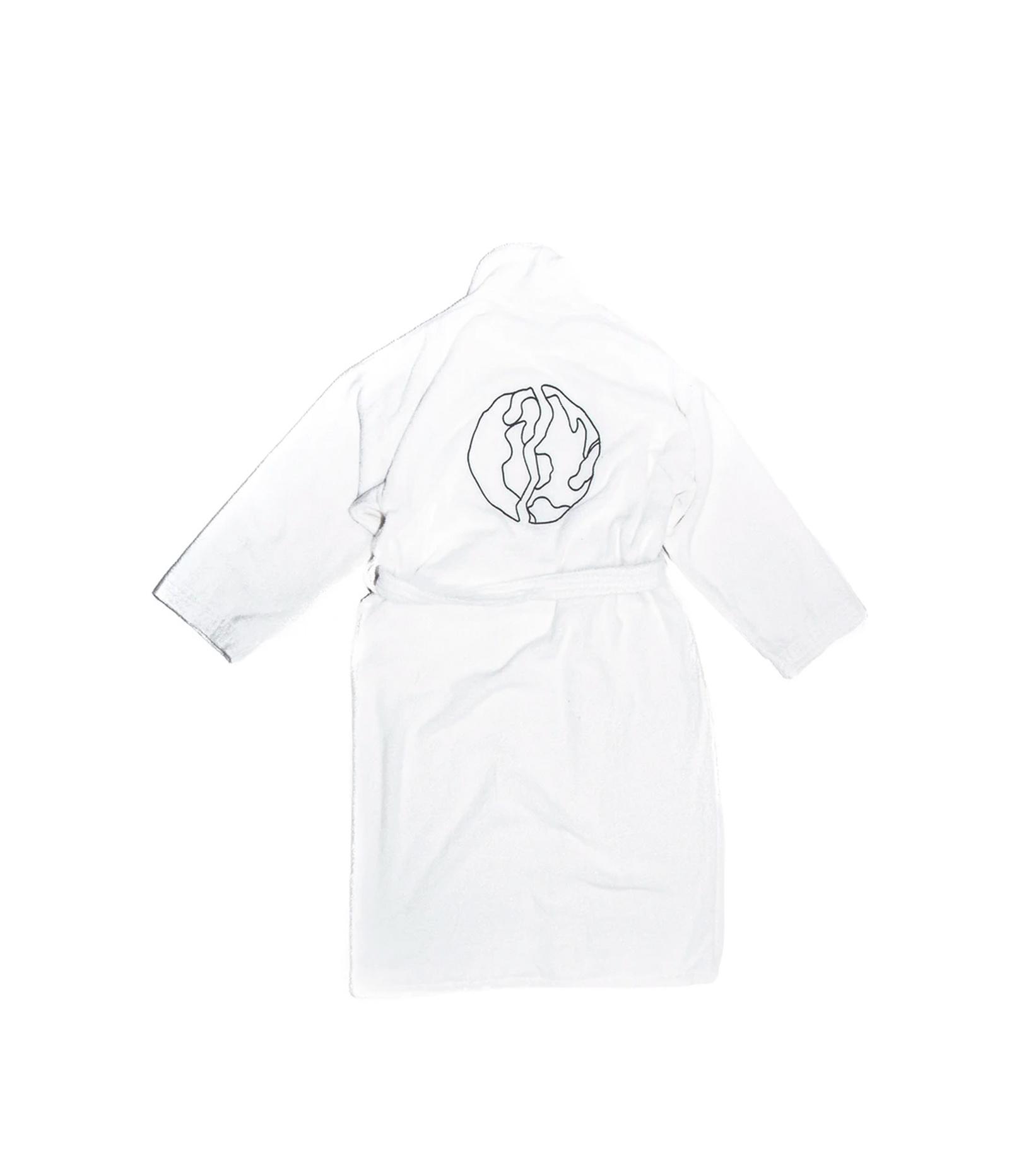 """Logo Bathrobe """"White""""-2"""