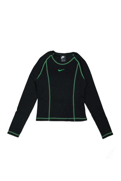 "LS Top ""Black/Poisin Green"""