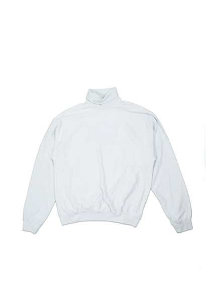 "Reverse Fleece Turtleneck Sweatshirt  ""Pale Blue"""