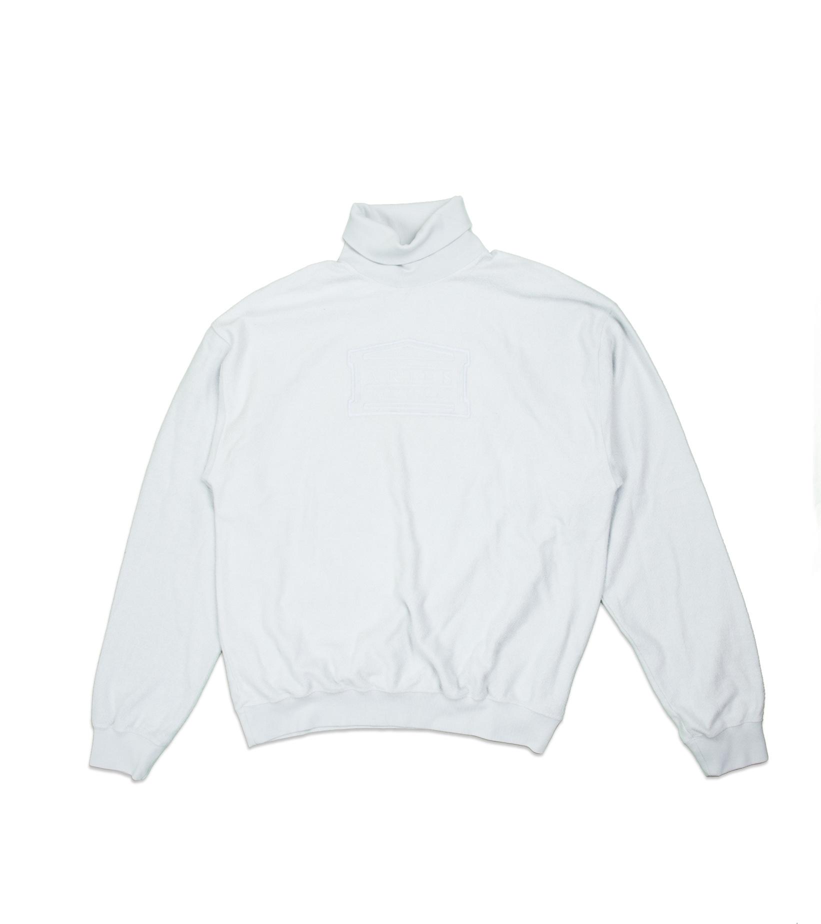 """Reverse Fleece Turtleneck Sweatshirt  """"Pale Blue""""-1"""